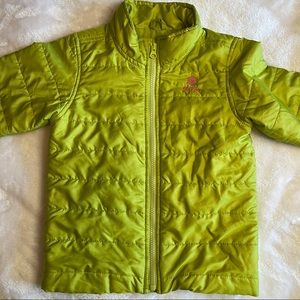 Old Navy 3T Puffer Poly Filled Lime Jacket/Coat